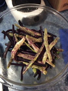Anellino di Trento and Royalty Purple bush beans