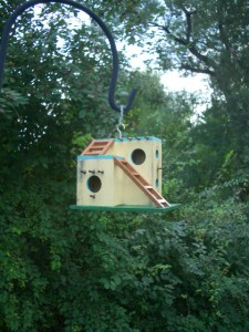 Adobe birdhouse